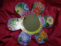 Painted mirror by Marie Lloyd