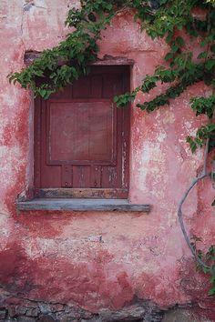 Mur vieux rose