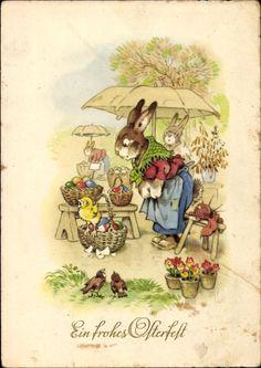Alenquerensis old easter cards Vintage Easter Postcard Easter Art, Hoppy Easter, Beatrix Potter, Vintage Cards, Vintage Postcards, Easter Bunny Pictures, Easter Illustration, Easter Parade, Bunny Art