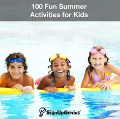 100 Fun Summer Activities for Kids. Stretch the warm days with day trips, learning activities and neighborhood gatherings. Sports Activities For Kids, Outdoor Activities For Kids, Summer Activities For Kids, Learning Activities, Summer Fun For Kids, Summer Ideas, Summer Time, Kids Things To Do, Fun Things