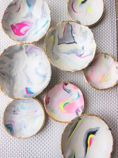 DIY Marble Clay Jewelry Bowls