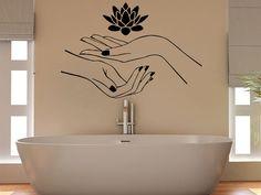 Lotus Wall Decal Vinyl Sticker Decals Hands Flower Namaste