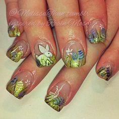 #nails #nailart #nailpornography #nailsmagazine #nailpromagazine #robinmosesnailart #easter #bunny