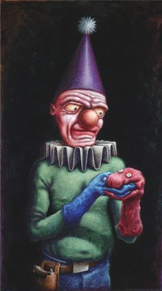 Lowbrow Pop surrealism limited edition art print by Pete Gorski titled: The Uniter Lowbrow Art, Pop Surrealism, Dark Art, Creative Art, Whimsical, Original Paintings, Art Pieces, Vibrant, Art