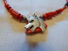 Handmade Tibetan Silver Wolf Head Tribal by DeanasQuiltsandMore, $15.00
