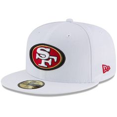 803b22e6d9e San Francisco 49ers New Era Omaha 59FIFTY Fitted Hat - White  SanFrancisco49ers  49ers Fans