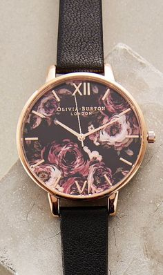 Painterly Rose Watch