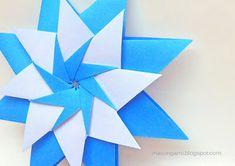 origami - estrella modular con los colores patrios.