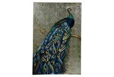 Oil Painting, Peacock on OneKingsLane.com