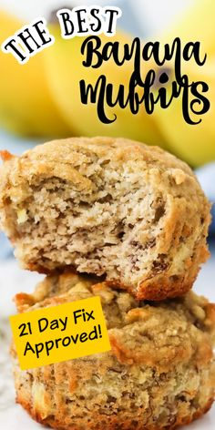 I love carbs. Especially bread carbs. I've been healthy eating for years now and I still wouldn't trust myself locked in a room of warm bread even today. Thankfully, I can satisfy those carb cravings with healthy delicious foods like these 21 day fix banana apple muffins from Fixate. In fact, we should thank Autumn herself for these easy, mouth-watering muffins! Healthy Sweet Snacks, Healthy Cake, Healthy Eating, Bread Carbs, No Carb Bread, Apple Banana Muffins, 21 Day Meal Plan, Grass Fed Butter, Meals For The Week