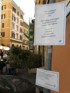 La fermata poetica di via del Colosseo, Roma.