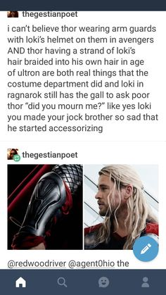 When Loki had the gall to ask Thor if he mourned him, ngl I was kinda pissed. It doesn't seem like Loki understands how much Thor loves him. Marvel Jokes, Marvel Funny, Marvel Dc Comics, Marvel Avengers, Loki Thor, Loki Laufeyson, Chris Hemsworth, Geek House, Chris Evans