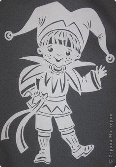 Картина панно рисунок Вырезание Скоморох Бумага фото 1