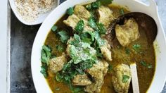 Coconut and coriander chicken curry.