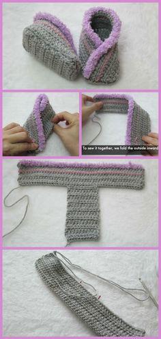How to Crochet Kimono Baby Booties - How to Crochet Kimono Baby Booties Crochet baby booties, beautiful kimono design tutorial Débardeurs Au Crochet, Crochet World, Crochet Crafts, Easy Crochet, Crochet Stitches, Crochet Projects, Crochet Patterns, Crochet Things, How To Crochet