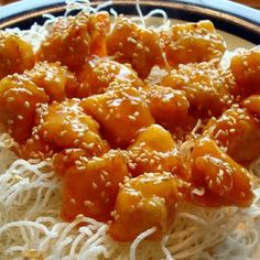 Sesame Chicken with Cellophane Noodles
