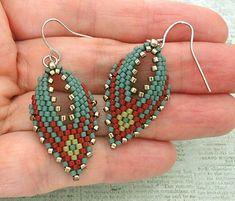 Russian Leaf Earrings - Blue & Red | Linda's Crafty Inspirations | Bloglovin'