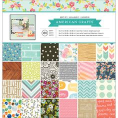 """American Crafts 12"""" x 12"""" Best of Paper Pad, 180 Sheets"""