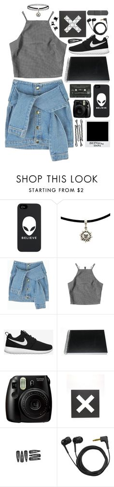 """""""Hannah Hunt"""" by sophiecom ❤ liked on Polyvore featuring Jagger, NIKE, Darice, Polaroid, Fujifilm, BOBBY, Urban Outfitters, Sennheiser and H&M"""