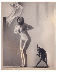 """William H. Mortensen unique print from the series """"A Pictorial Compendium of Witchcraft"""" 1926 courtesy of The Museum of Everything, London."""