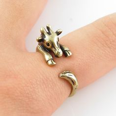 Giraffe Animal Wrap Ring - Gold
