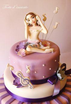 """""""Violetta"""" - by Tortedincanto @ CakesDecor.com - cake decorating website"""