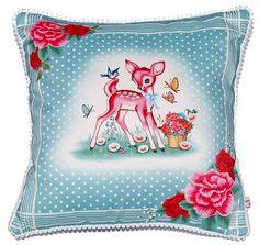 Wu & Wu Cushion pink deer