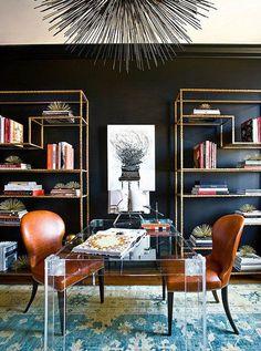 metallic bookcases