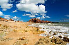 Pedra Furada Jericoacoara Brasil #Paisajesimpresio...