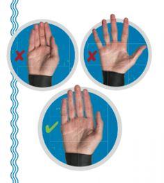 The correct swim hand position