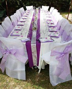 Image result for decoration de mariage lilas