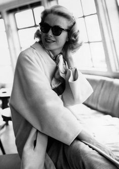 Grace Kelly; photo by Howell Conant, 1956.- Grace Kelly at SS Constitution, the boat where she went from NY to Monaco for the wedding with Prince Rainier of Monaco in 1956.