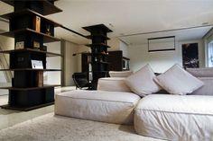 Cosy Eclectic Apartment by Fabio Fantolino wonderful contemporary soft cushion sofa