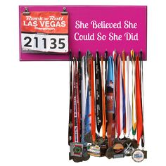 She Believed She Could So She Did Medal Hanger, Holder, Display. Need this!!!