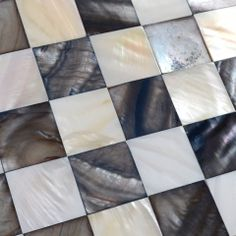 mother of pearl mosaic tiles black and white shell tiles kitchen backsplash tile RanBei20 bathroom mirrored wall stickers seashell mosaic tile