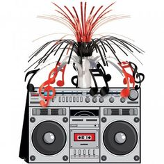 Boom Box Centrepiece Decoration for 80's Party