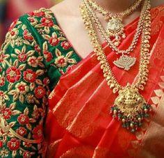 Red saree - 2