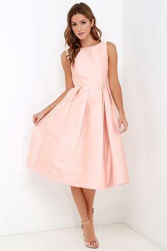 Elliatt Evergreen Blush Midi Dress