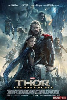 New Thor: Dark World movie poster and ABRFSKTFESVFHEGSVJFSSAR. I CANNOT WAIT.