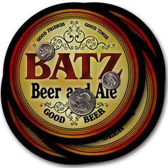 Batz Beer & Ale Drink Coasters - Set of 4 #batz #family #beer #gift