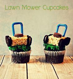 Lawn Mower Cupcake