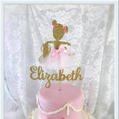 Ballerina Cake Topper - Ballerina Party Decorations - Ballerina Party Decor - Ballerina Party Centerpiece Pick - Ballerina Birthday Party