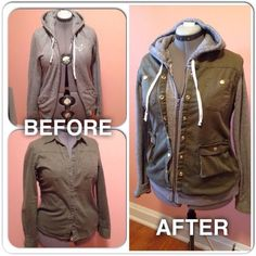 Great idea to refashion a hoodie