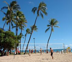 Nice location for some beach volleyball yeah I wish