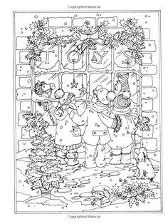 Amazon.com: Creative Haven Winter Wonderland Coloring Book (Adult Coloring)…