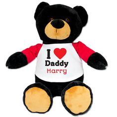 Fathers Day Plush Bear with I heart Daddy shirt