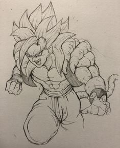 Dbz Drawings, Badass Drawings, Anime Character Drawing, Arte Horror, Dragon Ball Gt, Anime Sketch, Manga Art, Art Sketches, Otaku
