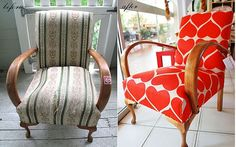 Check out this site for chair makeover love.  Still don't know how to sew, but this could eventually be useful for a couple chairs I have...