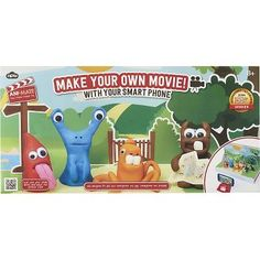 Ignite your child's imagination with this unique set containing everything you need to create your own claymation scenes. Complete with movie set, backdrops, camera stand, clay, props, and, of course,