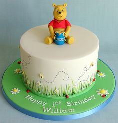 Winne the Pooh 1st Birthday Cake for William by RubyteaCakes, via Flickr